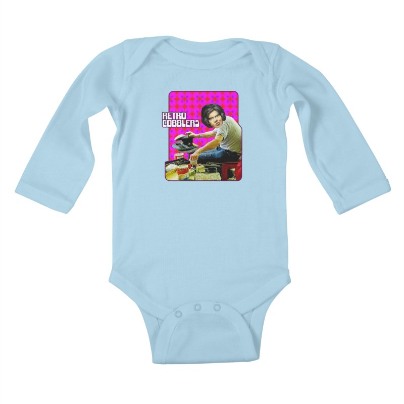 Retro Cobblers Kids Baby Longsleeve Bodysuit by The Rake & Herald Online Clag Emporium