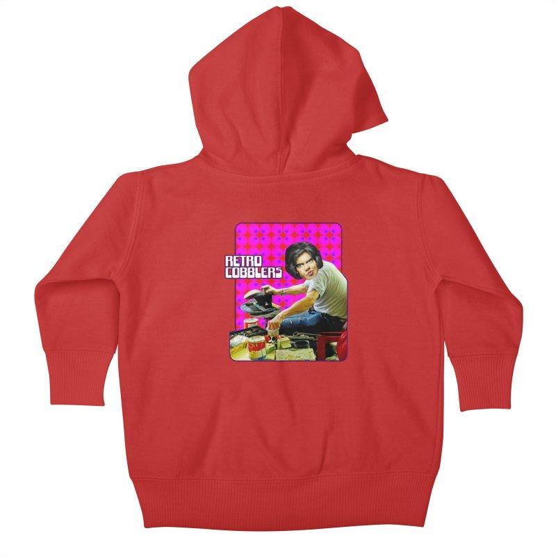 Retro Cobblers Kids Baby Zip-Up Hoody by The Rake & Herald Online Clag Emporium