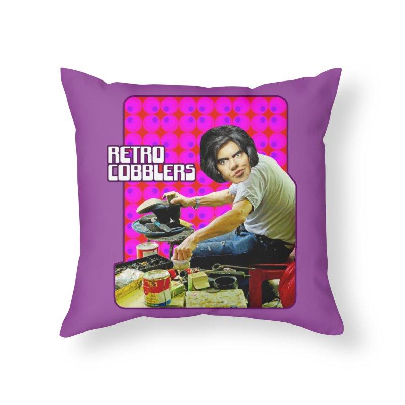 Retro Cobblers Home Throw Pillow by The Rake & Herald Online Clag Emporium
