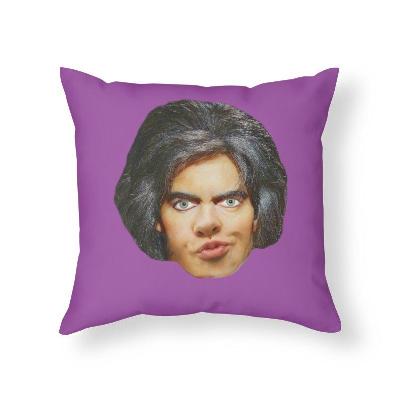 Retro Cobblers Bloke Home Throw Pillow by The Rake & Herald Online Clag Emporium