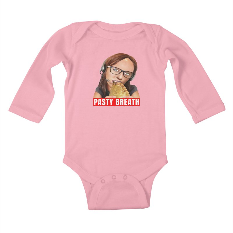 Pasty Breath Kids Baby Longsleeve Bodysuit by The Rake & Herald Online Clag Emporium