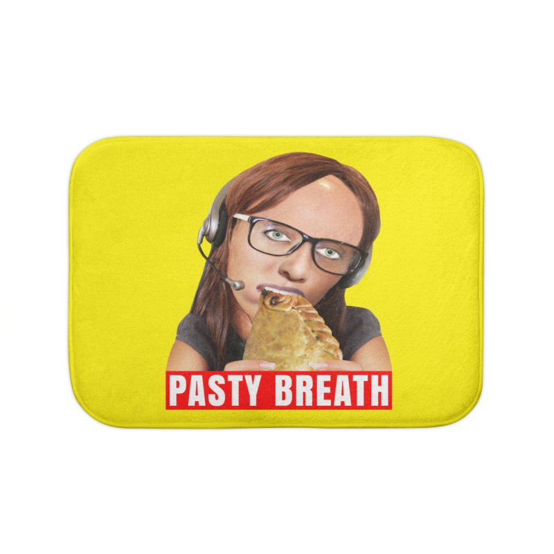 Pasty Breath Home Bath Mat by The Rake & Herald Online Clag Emporium