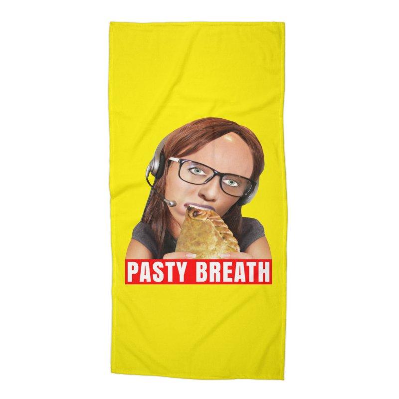 Pasty Breath Accessories Beach Towel by The Rake & Herald Online Clag Emporium
