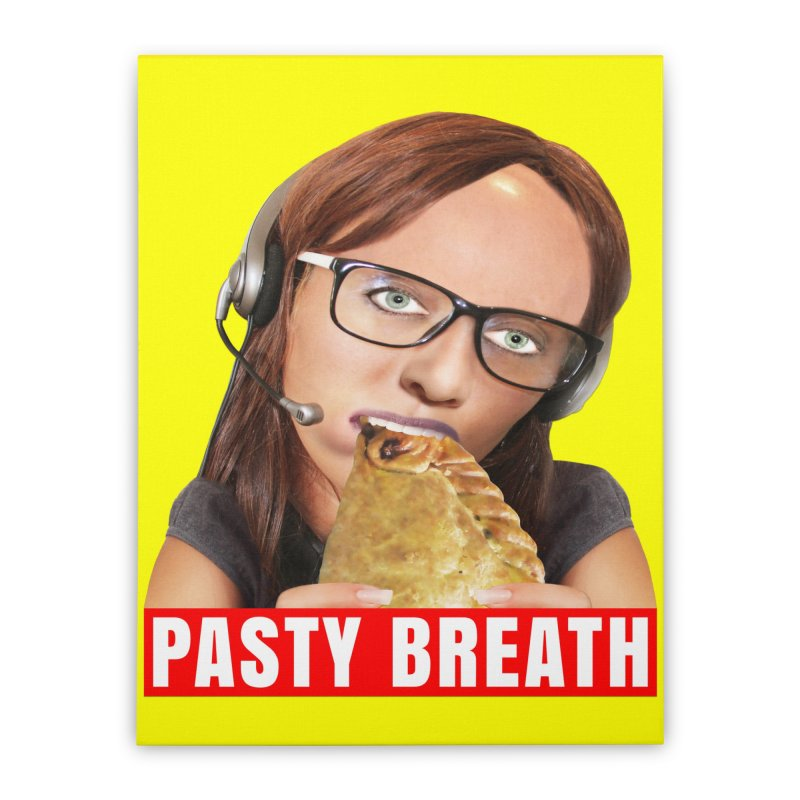 Pasty Breath Home Stretched Canvas by The Rake & Herald Online Clag Emporium