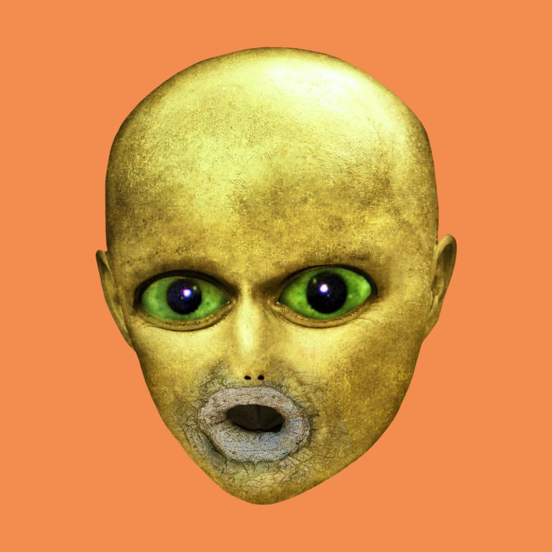 Alien Head by The Rake & Herald Online Clag Emporium