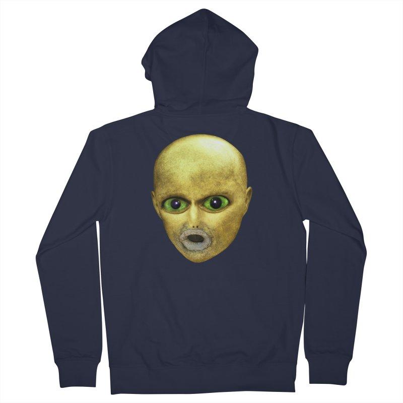Alien Head Women's Zip-Up Hoody by The Rake & Herald Online Clag Emporium