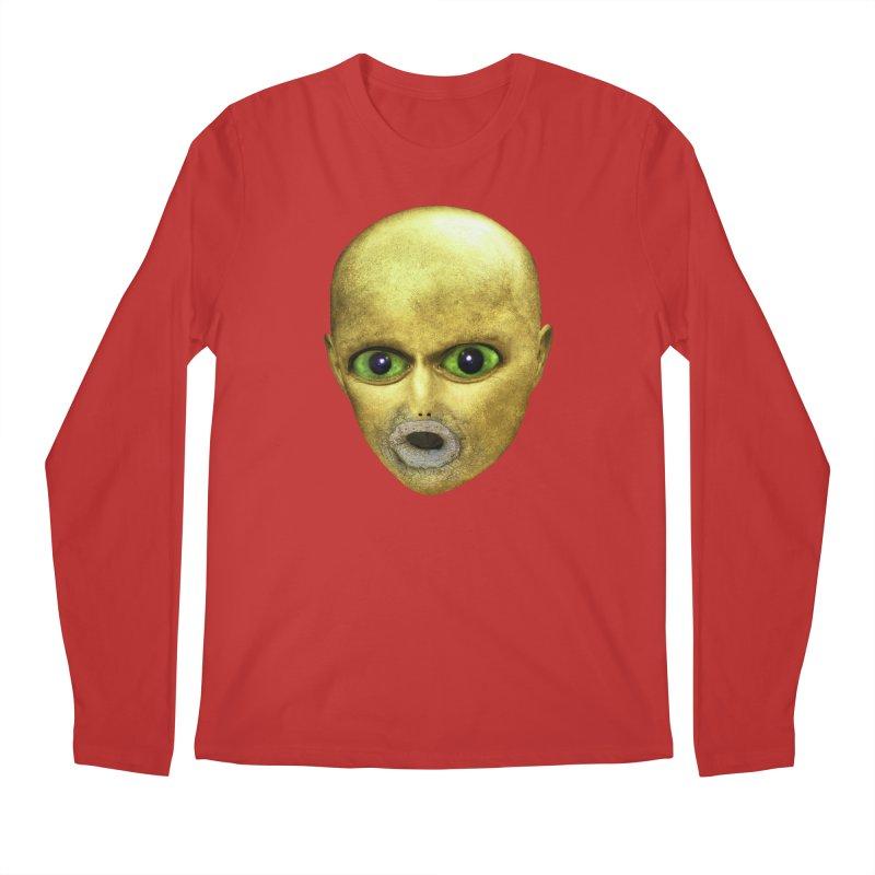 Alien Head Men's Longsleeve T-Shirt by The Rake & Herald Online Clag Emporium