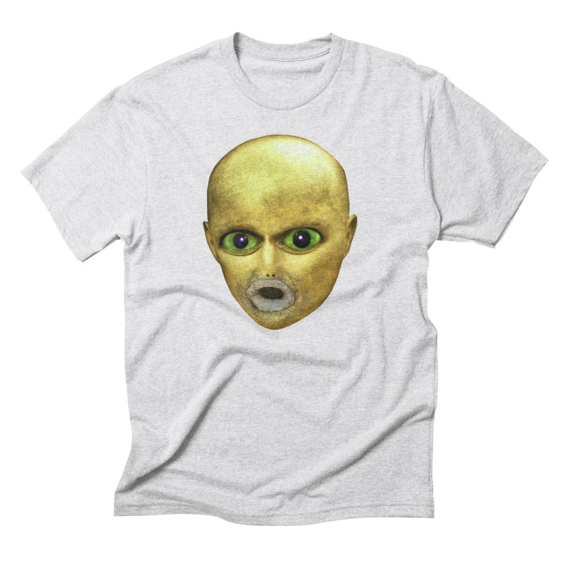 Alien Head Men's Triblend T-shirt by The Rake & Herald Online Clag Emporium