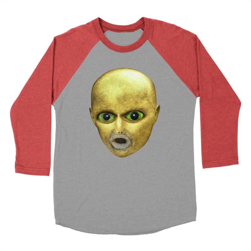 Alien Head Women's Baseball Triblend T-Shirt by The Rake & Herald Online Clag Emporium
