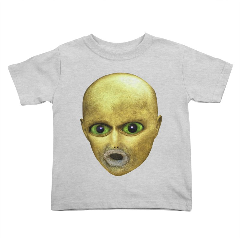 Alien Head Kids Toddler T-Shirt by The Rake & Herald Online Clag Emporium
