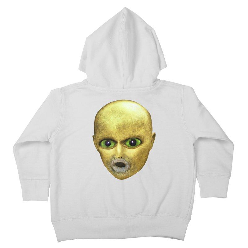 Alien Head Kids Toddler Zip-Up Hoody by The Rake & Herald Online Clag Emporium