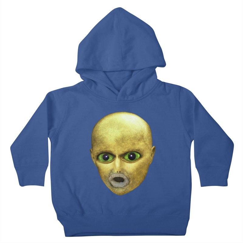 Alien Head Kids Toddler Pullover Hoody by The Rake & Herald Online Clag Emporium