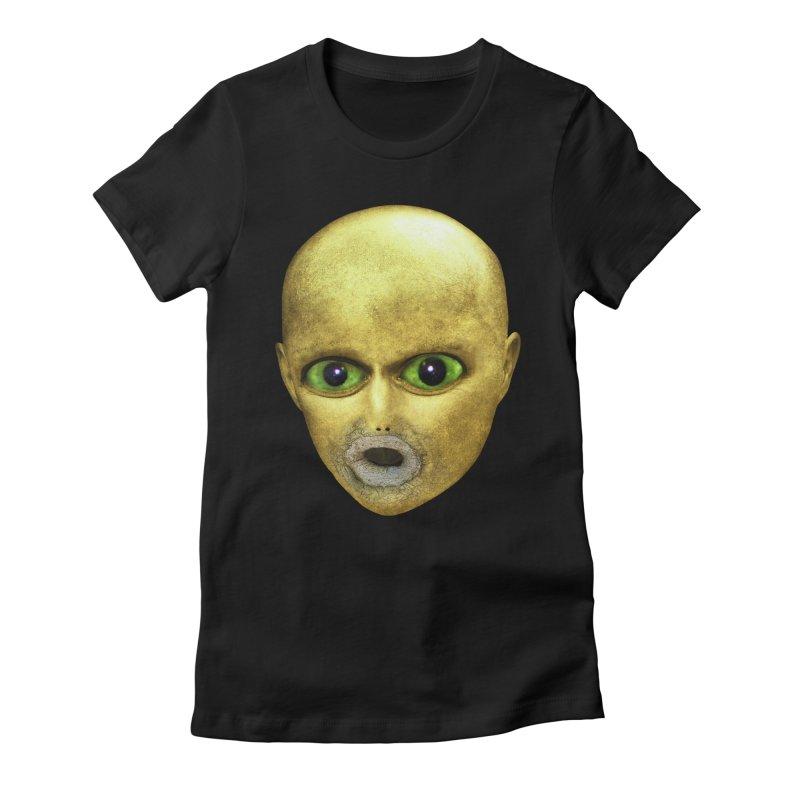Alien Head Women's Fitted T-Shirt by The Rake & Herald Online Clag Emporium
