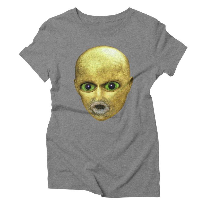 Alien Head Women's Triblend T-shirt by The Rake & Herald Online Clag Emporium
