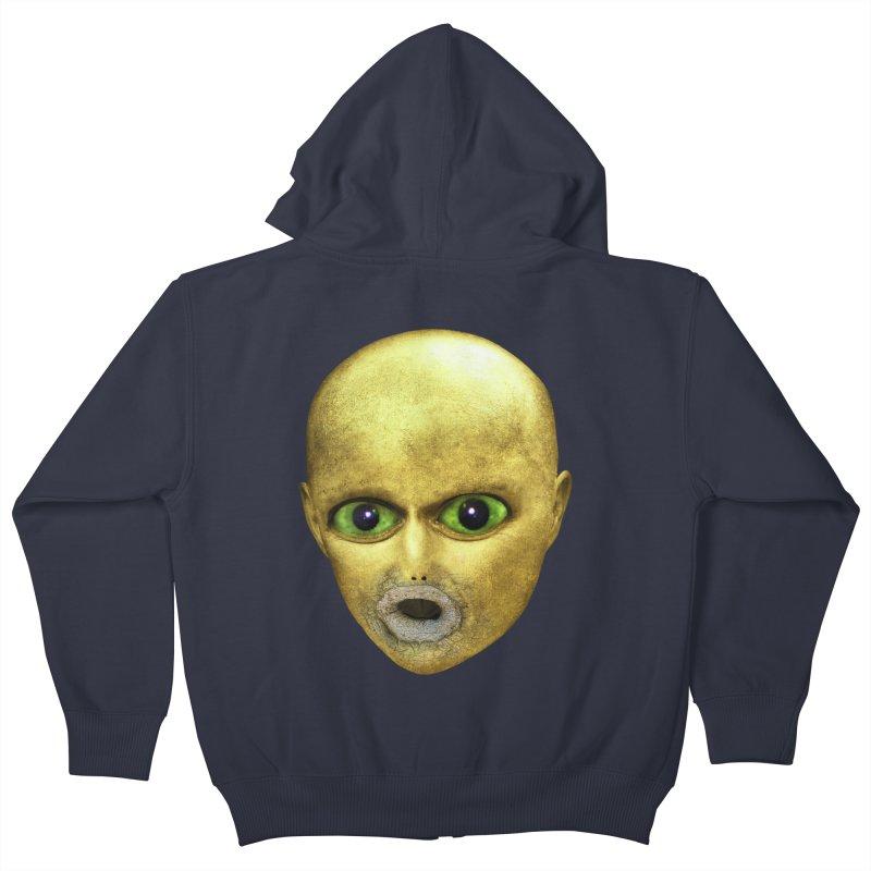 Alien Head Kids Zip-Up Hoody by The Rake & Herald Online Clag Emporium