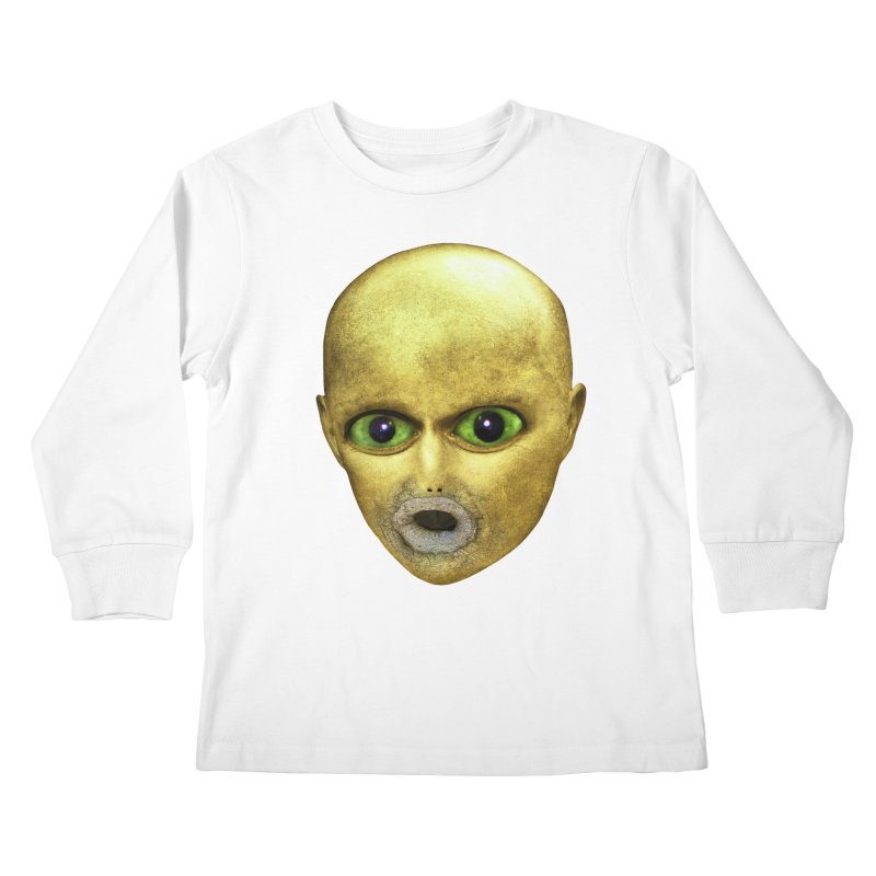 Alien Head Kids Longsleeve T-Shirt by The Rake & Herald Online Clag Emporium