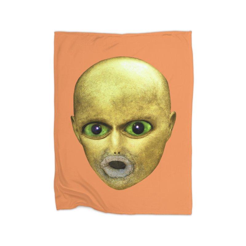 Alien Head Home Blanket by The Rake & Herald Online Clag Emporium