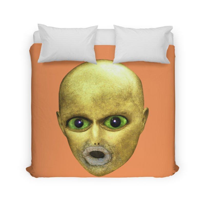 Alien Head Home Duvet by The Rake & Herald Online Clag Emporium