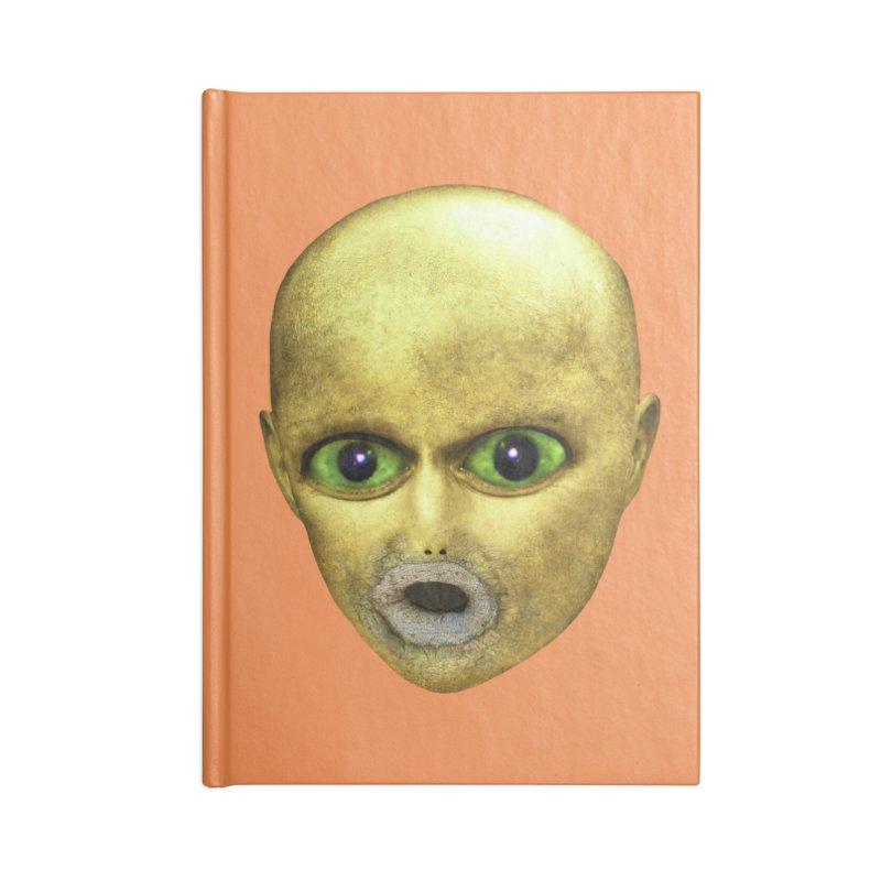 Alien Head Accessories Notebook by The Rake & Herald Online Clag Emporium