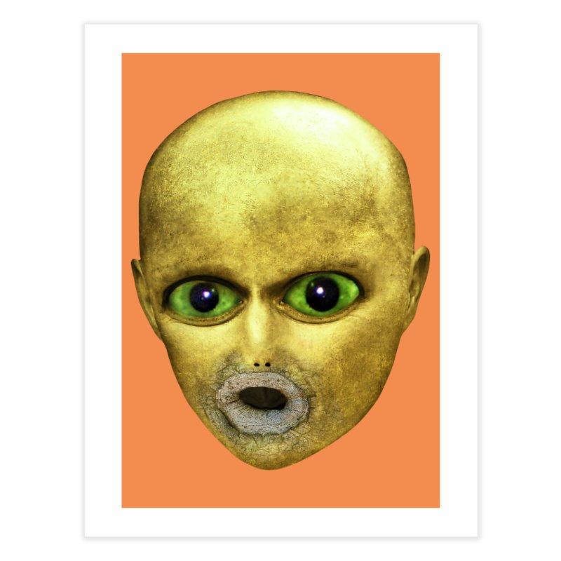 Alien Head Home Fine Art Print by The Rake & Herald Online Clag Emporium