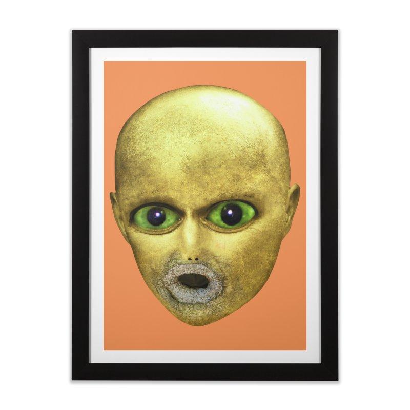 Alien Head Home Framed Fine Art Print by The Rake & Herald Online Clag Emporium
