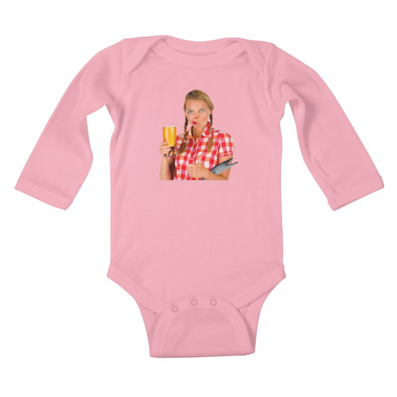Gabrielle Fish-Pint Kids Baby Longsleeve Bodysuit by The Rake & Herald Online Clag Emporium