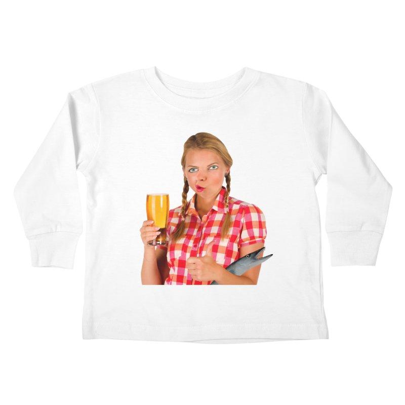 Gabrielle Fish-Pint Kids Toddler Longsleeve T-Shirt by The Rake & Herald Online Clag Emporium