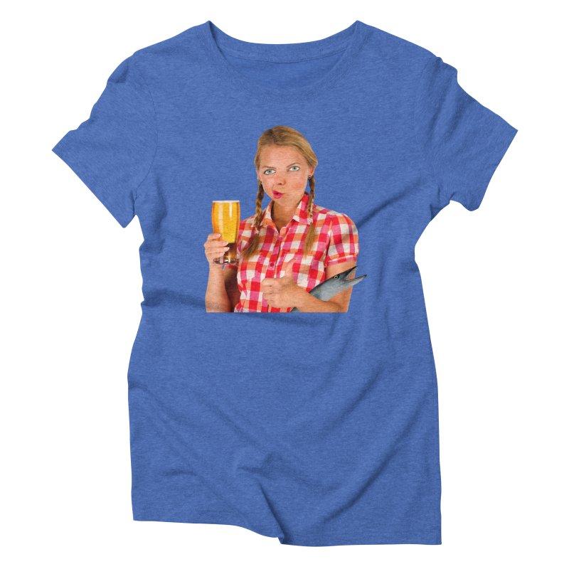 Gabrielle Fish-Pint Women's Triblend T-shirt by The Rake & Herald Online Clag Emporium