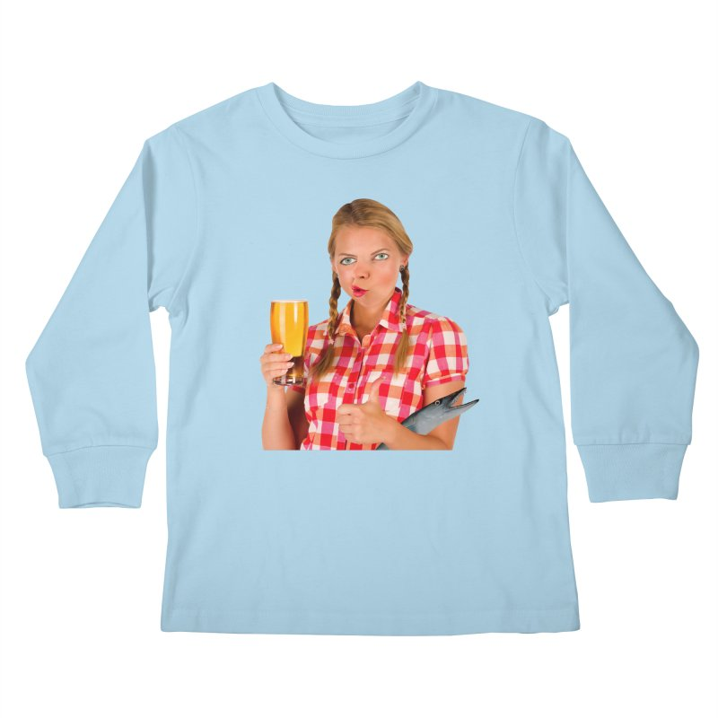 Gabrielle Fish-Pint Kids Longsleeve T-Shirt by The Rake & Herald Online Clag Emporium