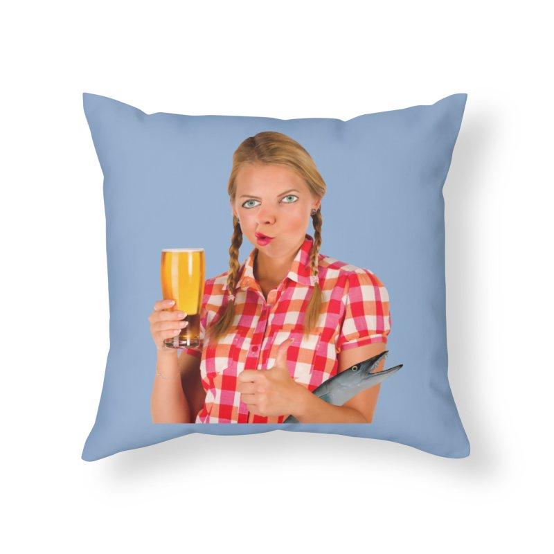Gabrielle Fish-Pint Home Throw Pillow by The Rake & Herald Online Clag Emporium