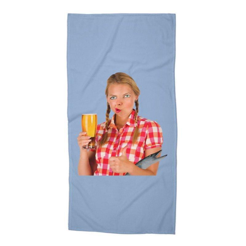 Gabrielle Fish-Pint Accessories Beach Towel by The Rake & Herald Online Clag Emporium