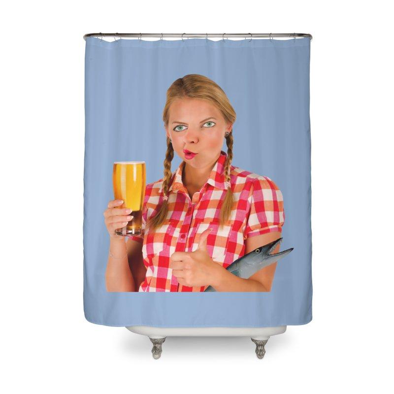 Gabrielle Fish-Pint Home Shower Curtain by The Rake & Herald Online Clag Emporium