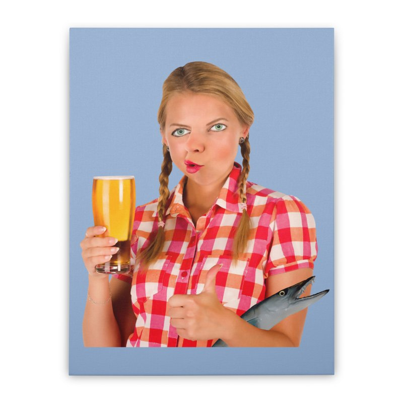 Gabrielle Fish-Pint Home Stretched Canvas by The Rake & Herald Online Clag Emporium