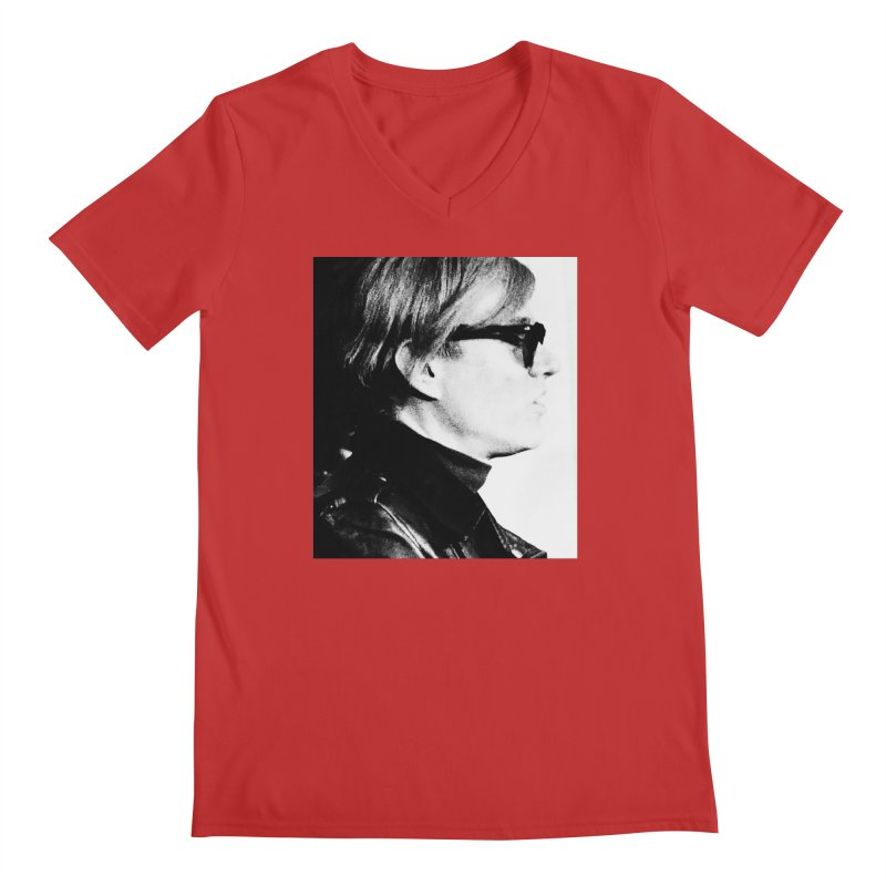 Hero of the Rake & Herald Andy Warhol Men's V-Neck by The Rake & Herald Online Clag Emporium