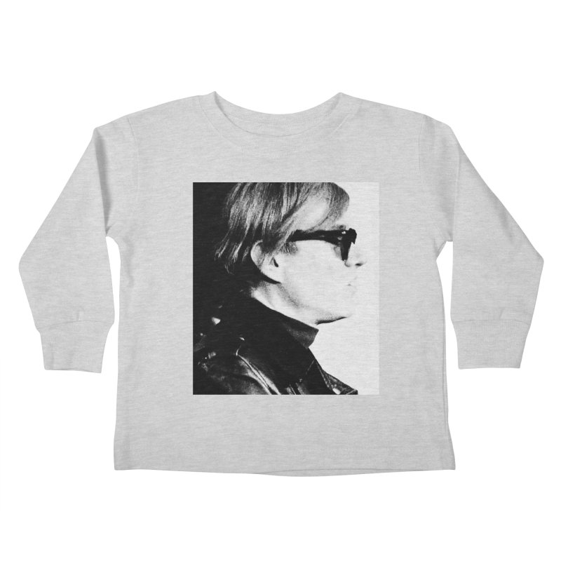 Hero of the Rake & Herald Andy Warhol Kids Toddler Longsleeve T-Shirt by The Rake & Herald Online Clag Emporium