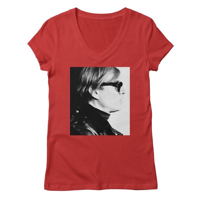 Hero of the Rake & Herald Andy Warhol Women's V-Neck by The Rake & Herald Online Clag Emporium