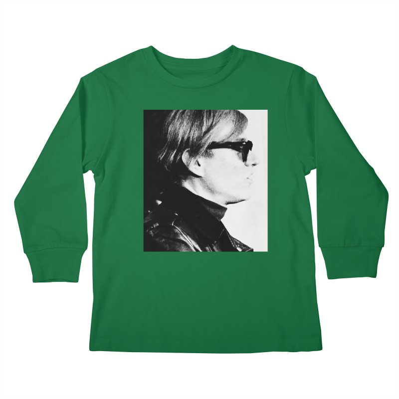 Hero of the Rake & Herald Andy Warhol Kids Longsleeve T-Shirt by The Rake & Herald Online Clag Emporium