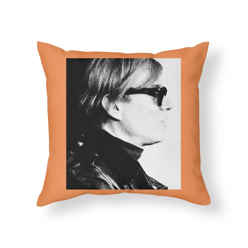 Hero of the Rake & Herald Andy Warhol Home Throw Pillow by The Rake & Herald Online Clag Emporium