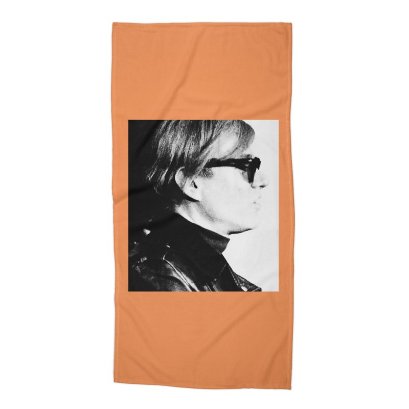 Hero of the Rake & Herald Andy Warhol Accessories Beach Towel by The Rake & Herald Online Clag Emporium