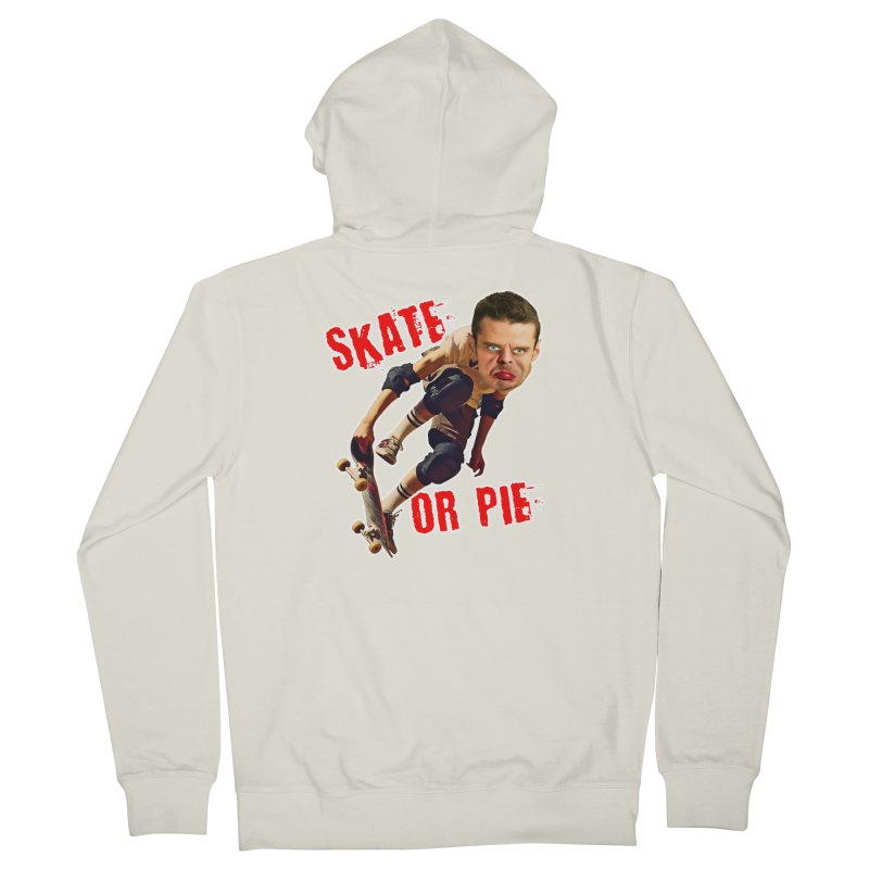 Skate or Pie Men's Zip-Up Hoody by The Rake & Herald Online Clag Emporium