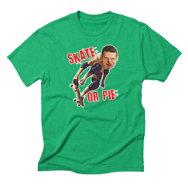 Skate or Pie Men's Triblend T-shirt by The Rake & Herald Online Clag Emporium