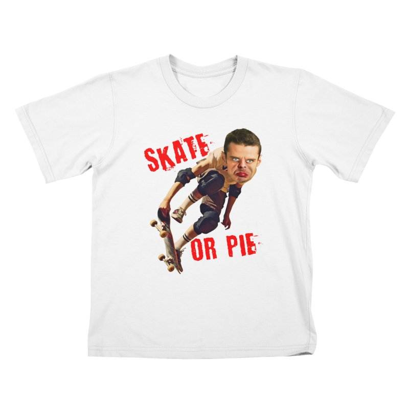 Skate or Pie Kids T-shirt by The Rake & Herald Online Clag Emporium