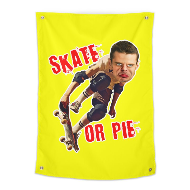 Skate or Pie Home Tapestry by The Rake & Herald Online Clag Emporium