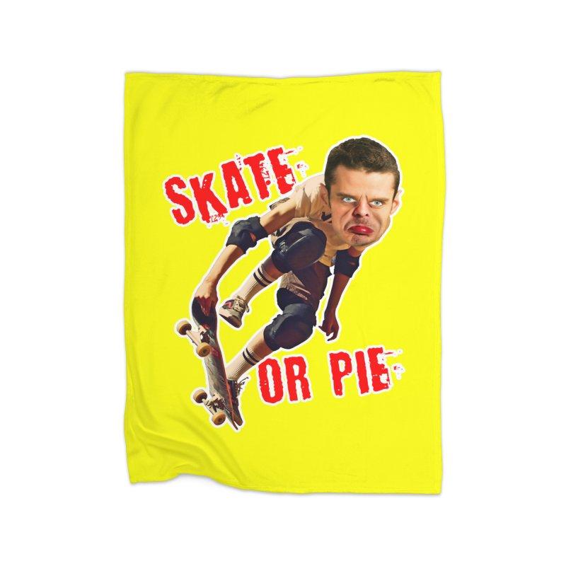 Skate or Pie Home Blanket by The Rake & Herald Online Clag Emporium