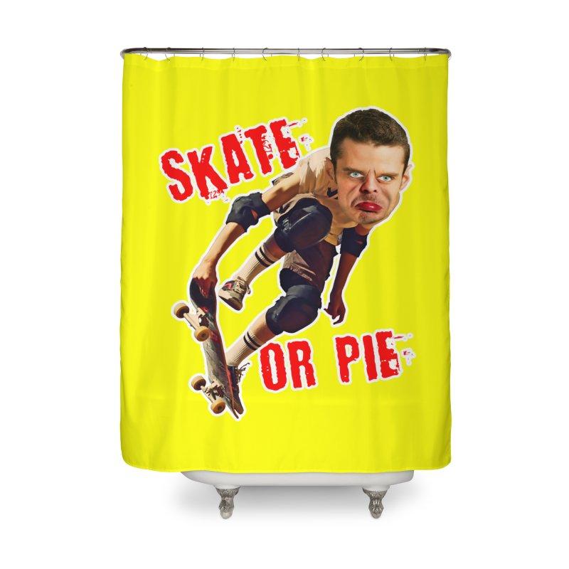 Skate or Pie Home Shower Curtain by The Rake & Herald Online Clag Emporium