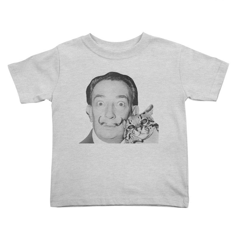 Hero of the Rake & Herald Salvador Dali (and Ocelot) Kids Toddler T-Shirt by The Rake & Herald Online Clag Emporium