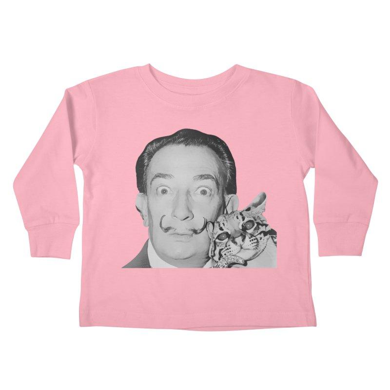 Hero of the Rake & Herald Salvador Dali (and Ocelot) Kids Toddler Longsleeve T-Shirt by The Rake & Herald Online Clag Emporium