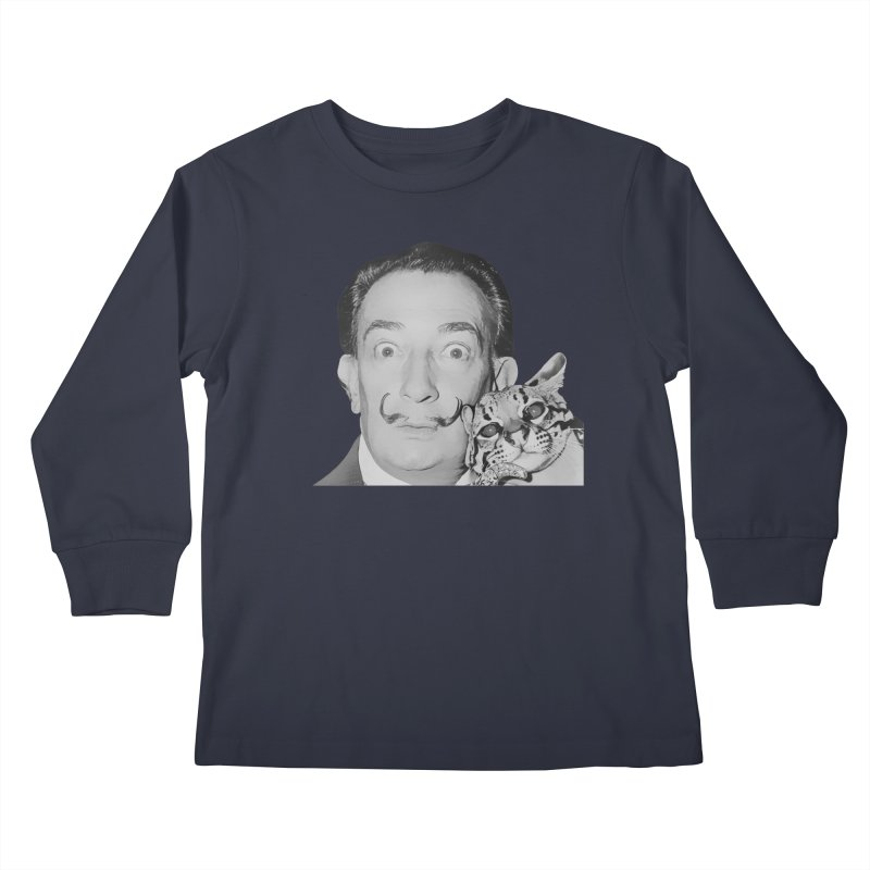 Hero of the Rake & Herald Salvador Dali (and Ocelot) Kids Longsleeve T-Shirt by The Rake & Herald Online Clag Emporium