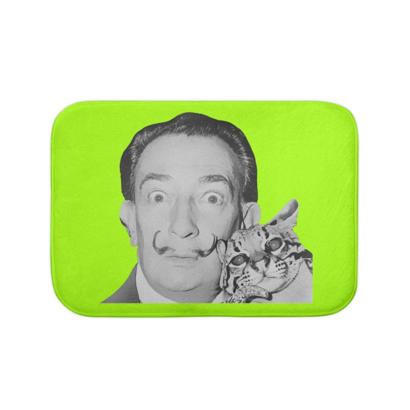Hero of the Rake & Herald Salvador Dali (and Ocelot) Home Bath Mat by The Rake & Herald Online Clag Emporium