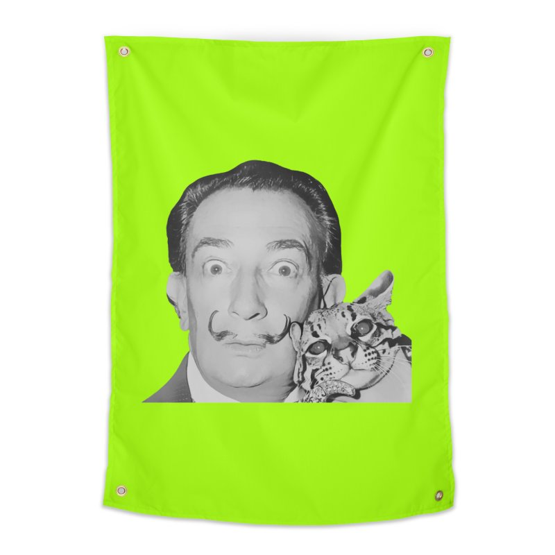 Hero of the Rake & Herald Salvador Dali (and Ocelot) Home Tapestry by The Rake & Herald Online Clag Emporium